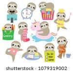 vector illustration of cute... | Shutterstock .eps vector #1079319002
