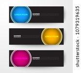 modern geometrics banners web... | Shutterstock .eps vector #1079319635
