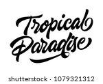 tropical paradise travel banner ... | Shutterstock .eps vector #1079321312