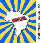 pop art map of brazil | Shutterstock .eps vector #1079323556