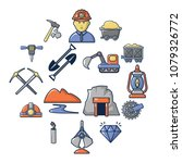 mining minerals business icons... | Shutterstock .eps vector #1079326772