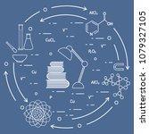 scientific  education elements. ... | Shutterstock .eps vector #1079327105