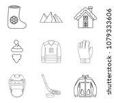 freezing injury icons set.... | Shutterstock .eps vector #1079333606