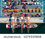 container warehouse and... | Shutterstock . vector #1079335808