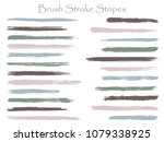 colored ink brush stroke... | Shutterstock .eps vector #1079338925