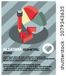 algebra color isometric poster | Shutterstock .eps vector #1079343635