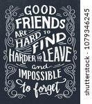 good friends are hard to find ... | Shutterstock .eps vector #1079346245