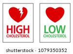 high and low cholesterol in... | Shutterstock .eps vector #1079350352