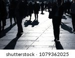 shadows of people on the street ... | Shutterstock . vector #1079362025