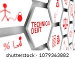 technical debt concept cell... | Shutterstock . vector #1079363882