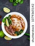 pho bo   vietnamese fresh rice...   Shutterstock . vector #1079365142
