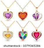 illustration set of pendants ... | Shutterstock .eps vector #1079365286