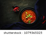 thai traditional food  red... | Shutterstock . vector #1079365325