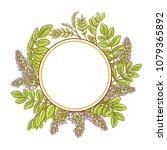 licorice vector frame   Shutterstock .eps vector #1079365892