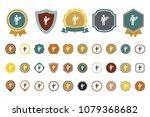 vector waiter icon | Shutterstock .eps vector #1079368682
