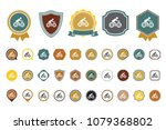 riding bike icon | Shutterstock .eps vector #1079368802