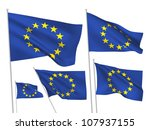 european union vector flags. a... | Shutterstock .eps vector #107937155