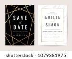 luxury wedding invitation cards ... | Shutterstock .eps vector #1079381975