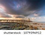 bandra worli sea link  mumbai | Shutterstock . vector #1079396912