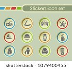 fathers day simple vector icons ... | Shutterstock .eps vector #1079400455