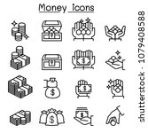 money  coin  cash icon set in... | Shutterstock .eps vector #1079408588
