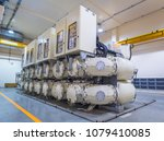 high voltage electric power gas ... | Shutterstock . vector #1079410085