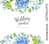 summer botanical vector design... | Shutterstock .eps vector #1079411972