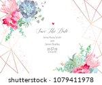 polygonal floral vector design... | Shutterstock .eps vector #1079411978