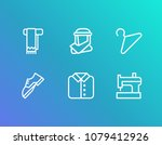 cloth icon set and shoe with...