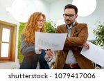 young business managers... | Shutterstock . vector #1079417006