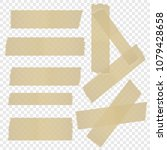 a selection of adhesive tape on ... | Shutterstock .eps vector #1079428658
