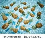 3d rendering. pineapples... | Shutterstock . vector #1079432762