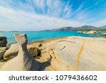 rocks by the sea in spiaggia... | Shutterstock . vector #1079436602
