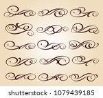set of decorative elements.... | Shutterstock .eps vector #1079439185