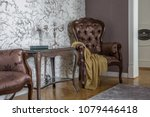 close up of a vintage table and ... | Shutterstock . vector #1079446418