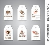 chocolate cacao sketch banners. ... | Shutterstock .eps vector #1079447642