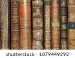 stack of old books  copyspace... | Shutterstock . vector #1079449292