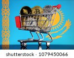 shopping trolley full of... | Shutterstock . vector #1079450066