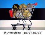 shopping trolley full of... | Shutterstock . vector #1079450786