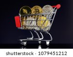 shopping trolley full of... | Shutterstock . vector #1079451212