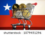shopping trolley full of... | Shutterstock . vector #1079451296