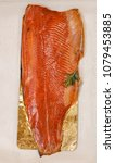 Stock photo smoked salted trout ready for eating 1079453885