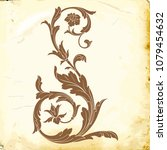 retro baroque decorations... | Shutterstock .eps vector #1079454632