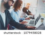 business project team working... | Shutterstock . vector #1079458028