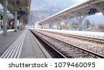 train railway and station in... | Shutterstock . vector #1079460095