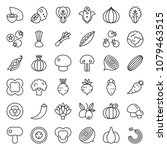 vegetable icon set 2 2  line... | Shutterstock .eps vector #1079463515