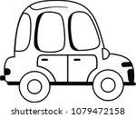 black and white hot car vector... | Shutterstock .eps vector #1079472158
