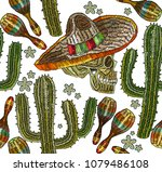embroidery mexican culture... | Shutterstock .eps vector #1079486108