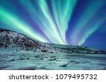 incredible northern lights...   Shutterstock . vector #1079495732