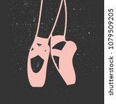 vector ballet flat... | Shutterstock .eps vector #1079509205